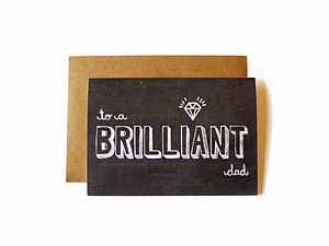 'Brilliant Dad' Chalkboard Card