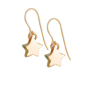 Gold One In A Milllion Star Earrings - earrings