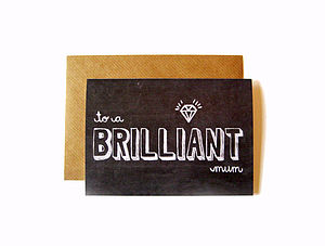 'Brilliant Mum' Chalkboard Card