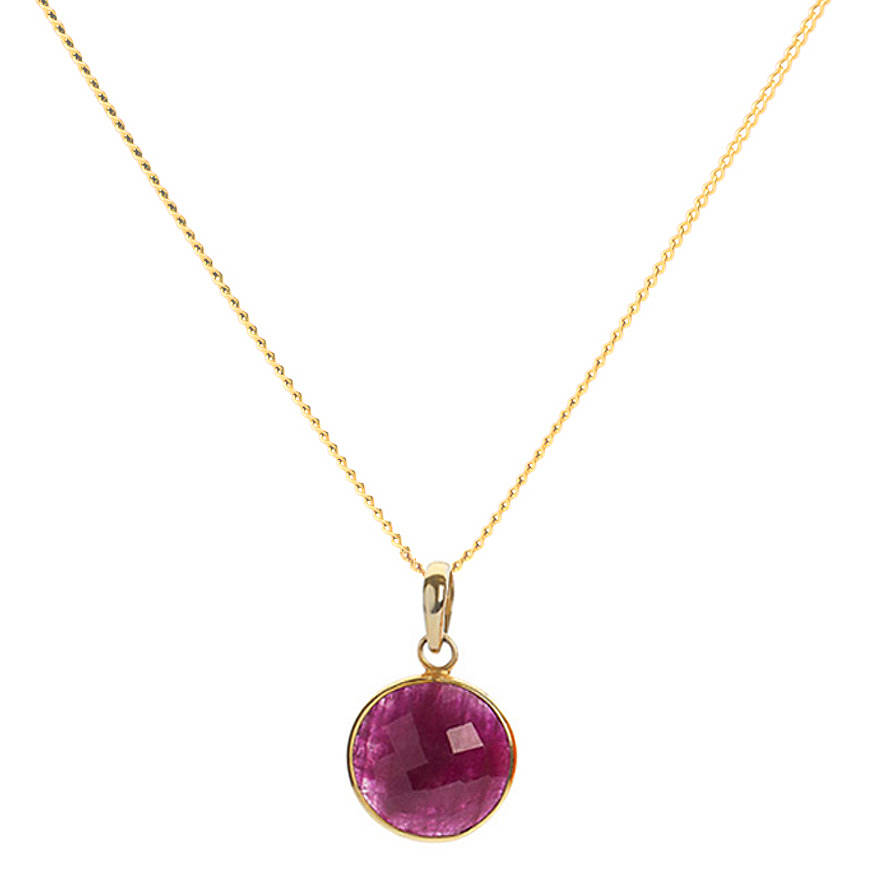 Ruby 18ct Gold Vermeil Necklace