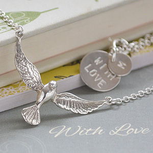 Sterling Silver Dove Bird Necklace - necklaces & pendants