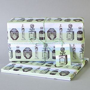 Two Sheets Of Parfum Print Wrapping Paper - shop by category