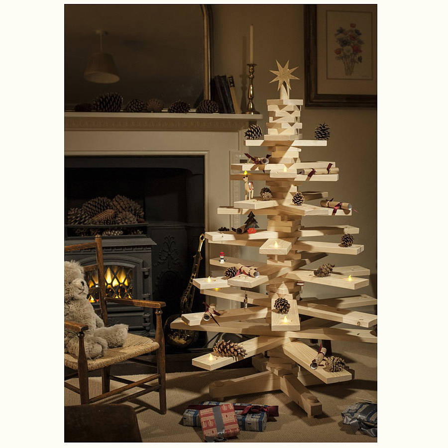 Original Small Wooden Christmas Tree