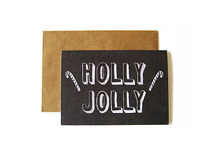 'Holly Jolly' Chalkboard Card - cards