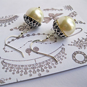 Petworth Pearl Acorn Earrings - earrings