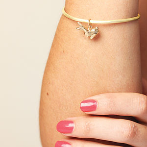 14k Gold Fill Bunny Bangle