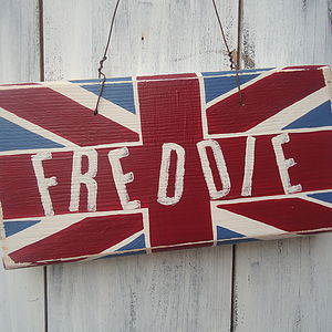 Personalised Union Jack Door Sign