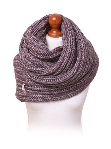 Chunky 'Fisherman's' Scarf   Not A Snood - hats, scarves & gloves