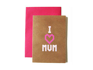 'I Heart Mum' Washi Tape Card