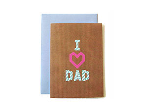 'I Heart Dad' Washi Tape Card