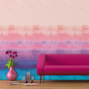 Rainbow Watercolour Self Adhesive Wallpaper - wallpaper