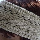 Lace Knitted Headband