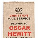 Personalised Hessian Xmas Sack