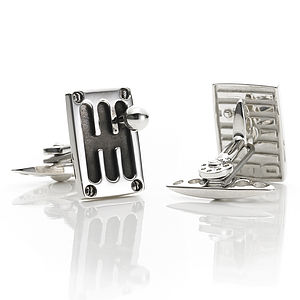 Cambio 80s Cufflinks - distinctive dad jewellery