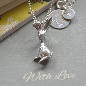 Sterling Silver Bunny Necklace - necklaces & pendants
