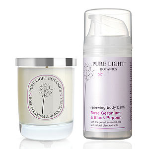 Rose Geranium Luxury Pampering Organic Gift Bag - home accessories