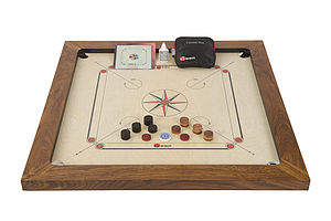Championship Carrom Set - board games & puzzles