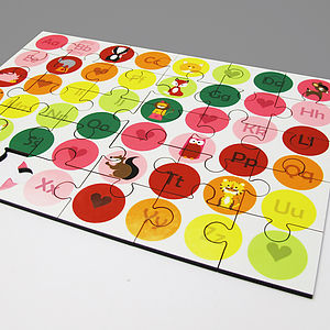 Personalised 'Abc Pink' Jigsaw