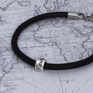 'Travel Safe' Leather Mojo Bracelet - men's jewellery