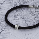 'Travel Safe' Leather Mojo Bracelet