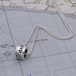 'Travel Safe' Solid Silver Mojo Charm Necklace - necklaces