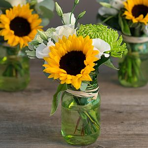 Sunflower Little Vintage Jar Trio