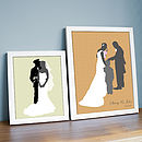 Personalised Wedding Silhouette Print