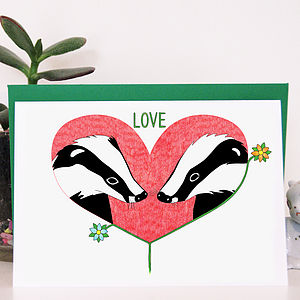Love Badgers Greeting Card