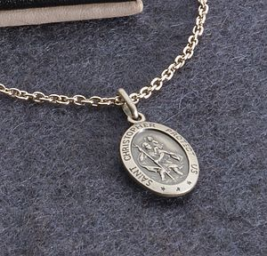 Personalised Silver St Christopher Necklace - children's jewellery