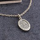 Personalised Sterling Silver St Christopher Necklace