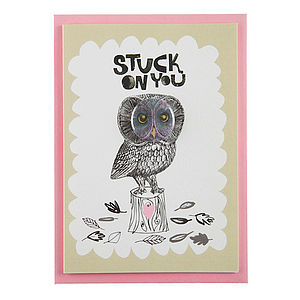 'Stuck On You' Card With Badge