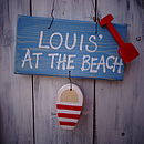 Gone To The Beach' Sign