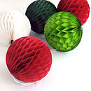 Christmas Tissue Paper Ball Decoration