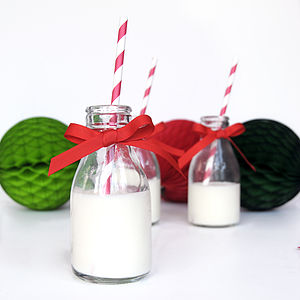 Christmas Party Bottles With Straws - tableware