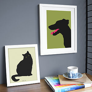 Personalised Pet Silhouette Print - pet-lover