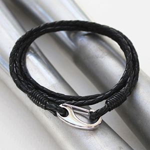 Men's Double Wrap Leather Bracelet - men's jewellery