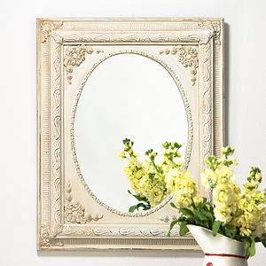 Dutch Oval Painted Mirror - mirrors