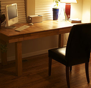 Oak Desk With Drawer - furniture