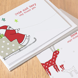 12 Children's Christmas Thank You Cards
