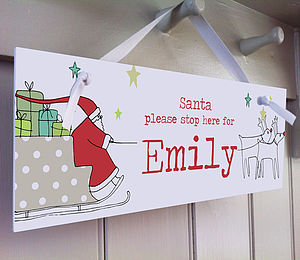 Santa Please Stop Here - signs & decorative letters