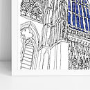 Westminster Abbey Signed Print