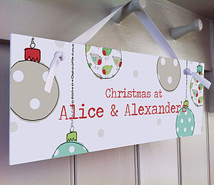 Personalised Christmas Sign - signs & decorative letters