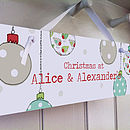 Personalised Christmas Sign