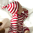 Red And White Stripy Romper