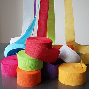 Paper Crepe Streamers - interests & hobbies