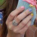 In Wonderland Silver Stack Rings
