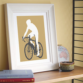 Personalised Sporty Silhouette Print