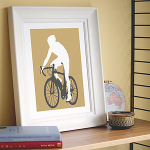 Personalised Sporty Silhouette Print - sport-lover