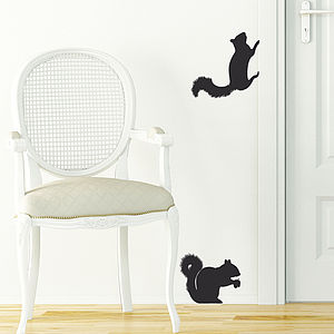 Squirrel Wall Sticker - decorative accessories