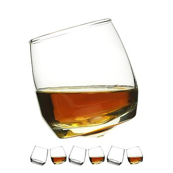 Set Of Six Rocking Whiskey Glasses